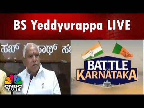 BS Yeddyurappa LIVE | Congress Has No Moral Right to Claim Power