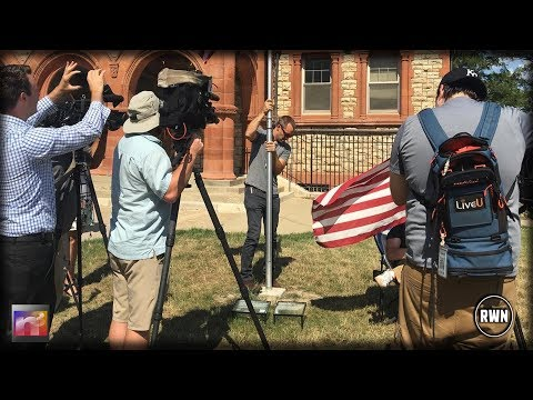 University of Kansas Defaces American Flag On Campus, Flies It With Foul Message then they CAVE In