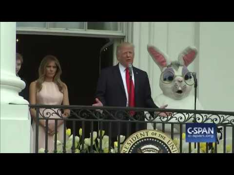 Thumbnail: President Trump and First Lady Melania Trump remarks at White House Easter Egg Roll (C-SPAN)
