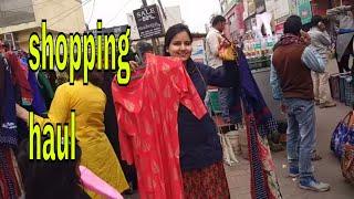Indian street market shopping Haul 2018 / Kurti shopping haul / shopping
