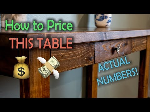 How We Priced a Sofa Table (REAL Numbers) | Woodworking Business