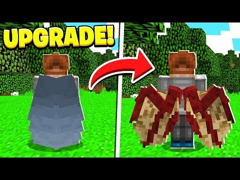 UPGRADING ELYTRA Into WINGS In Minecraft!