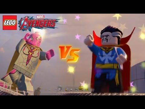 EPIC BATTLE! Vision vs Dr Strange - Lego Marvel Avengers