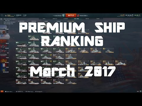 March 2017 Premium Ship Ranking