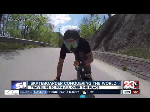 Bakersfield resident Daniel Engel ranked third in the world in downhill skateboarding