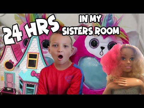24 hours in my SISTERS ROOM!