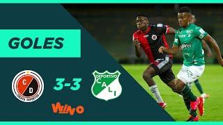 Cucuta vs Cali (3-3) Liga BetPlay Dimayor 2020 | Fecha 9