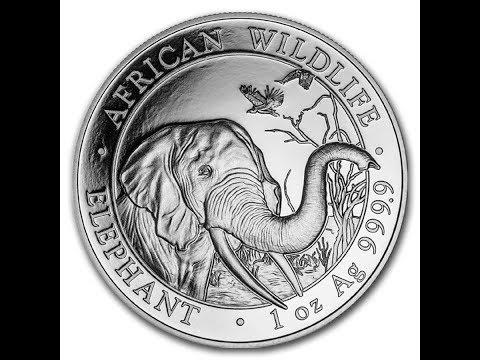 SILVER APMEX 2018 1 OZ SOMALI ELEPHANT LIVE OPENING AND HISTORY