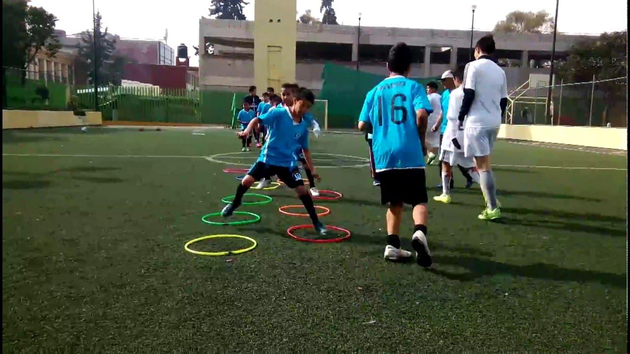 Ejercicios En Circuito Y Coordinacion : Ejercicio con aros en el entrenamiento de fútbol youtube