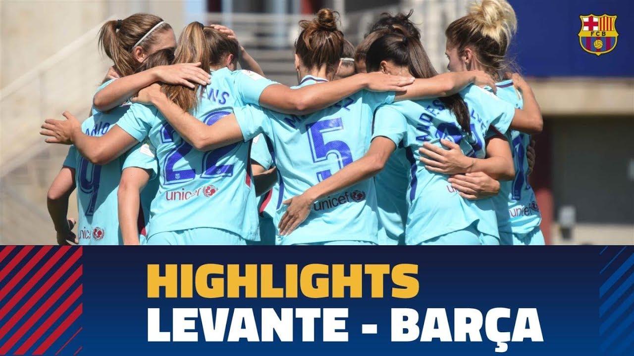 2839fd6ae3a88 HIGHLIGHTS  FUTBOL FEM (Liga)  Llevant - FC Barcelona (0-5) - YouTube