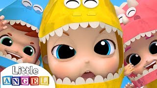 Download Baby Dino Dino Party | Dinosaur Song | Little Angel Nursery Rhymes Mp3 and Videos