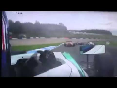 F4 British Championship 2017. Race 3 Donington Park. Billy Monger Horrifying Crash