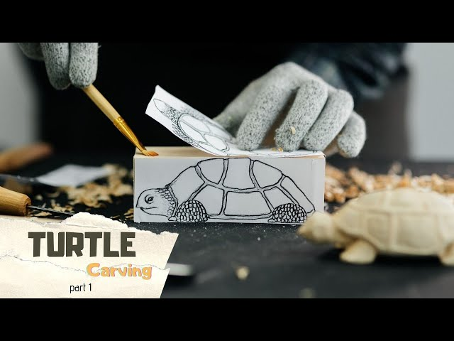 Easy Whittling - Turtle Wood Carving Part 1