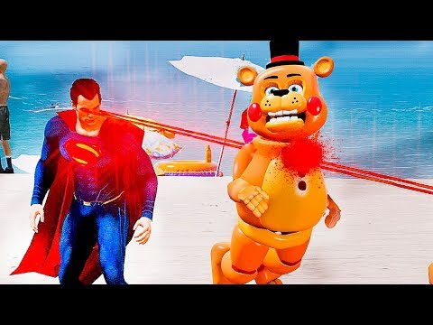 Como SUPERMAN matou TOY FREDDY Animatronics? | GTA V Five Nights at Freddy's thumbnail