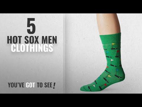 Top 10 Hot Sox Men Clothings [ Winter 2018 ]: Hot Sox Men's Golf Crew Sock, Kelly, Shoe: 10-13
