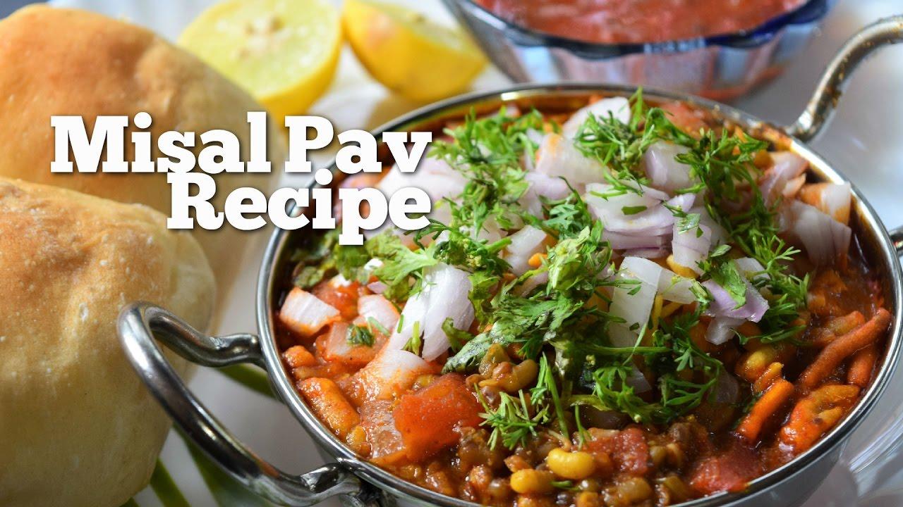 Full Misal Pav with Homemade Masala Recipes ...  Misal Pav Recipe In Marathi