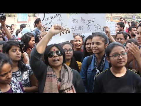 Live coverage: Protest against ABVP in Delhi University