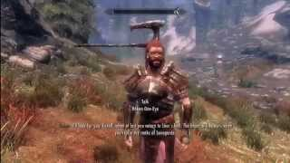 "Skyrim - ""Dang kids with their piercings...."" Axe In The Head Glitch"