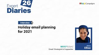 Zoho Campaigns—Expert Diaries 26—How to plan holiday email marketing in 2021
