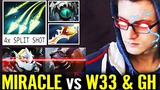 Miracle vs GH W33! Crazy Medusa Rapier 4x Split Shot 100% KO Nigma Teammate Pub Dota 2 Pro Gameplay