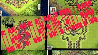 clash of clan some funny troll base.clash n rock.