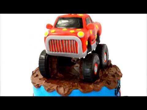 Monster truck theme cake - Custom Cake