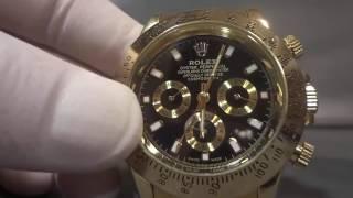 Обзор часов Rolex Daytona золотые!
