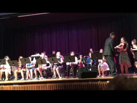 Tyrannosaurus Charlie North Smithfield six grade jazz band May 25, 2017