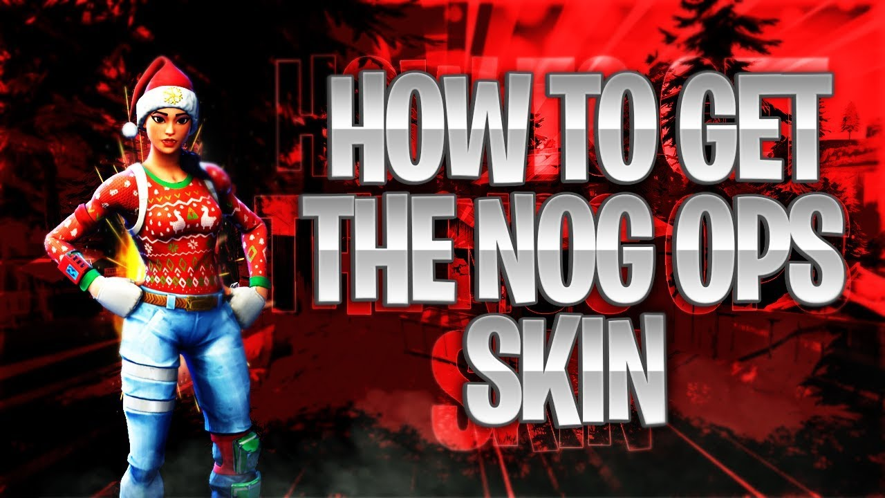 How To Get The Nog Ops Skin In Fortnite Works In Game Youtube
