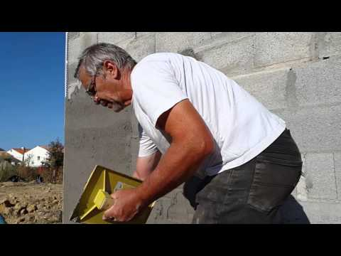 Comment appliquer un enduit youtube - Dosage mortier chaux ciment sable ...