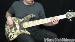 Fodera Emperor Buckeye Deluxe 5 Bass demo from BCC