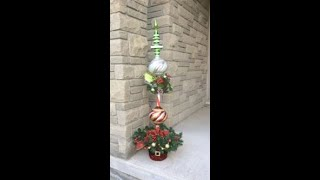 Christmas Ornament Topiary Tree by Artsy Crafter