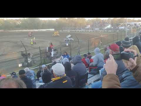 ASCS Sprint Cars, Heat 1, Creek County Speedway 10/12/19