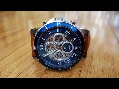 Fossil Grant Sport Automatic Luggage Leather Watch Review (ME3140) - Perth WAtch #52