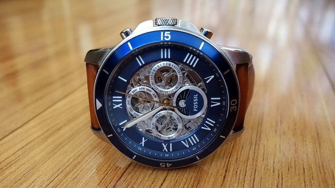 e7dfb6e1a0e Fossil Grant Sport Automatic Luggage Leather Watch Review (ME3140 ...