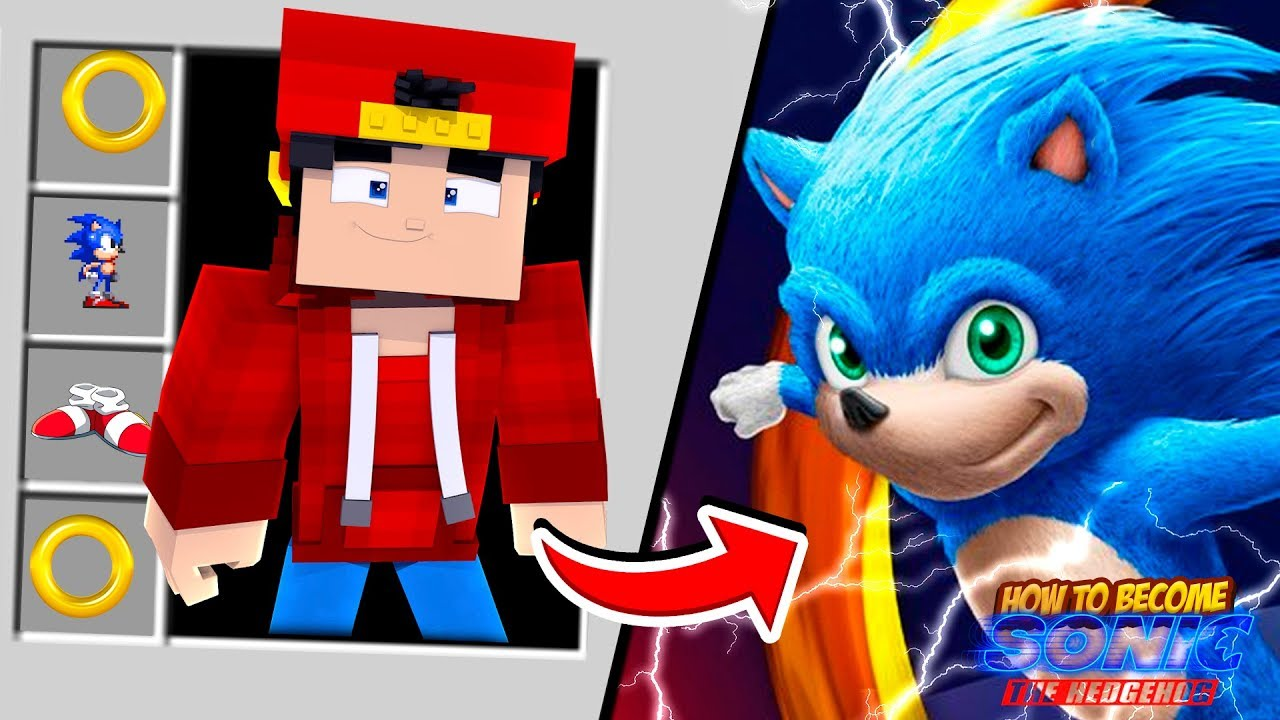 Minecraft Adventure How To Become Sonic The Hedgehog Youtube