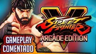 STREET FIGHTER V: ARCADE EDITION | Probando el ansiado Modo Arcade con Ryu. Ah, ¡y es gratuito!