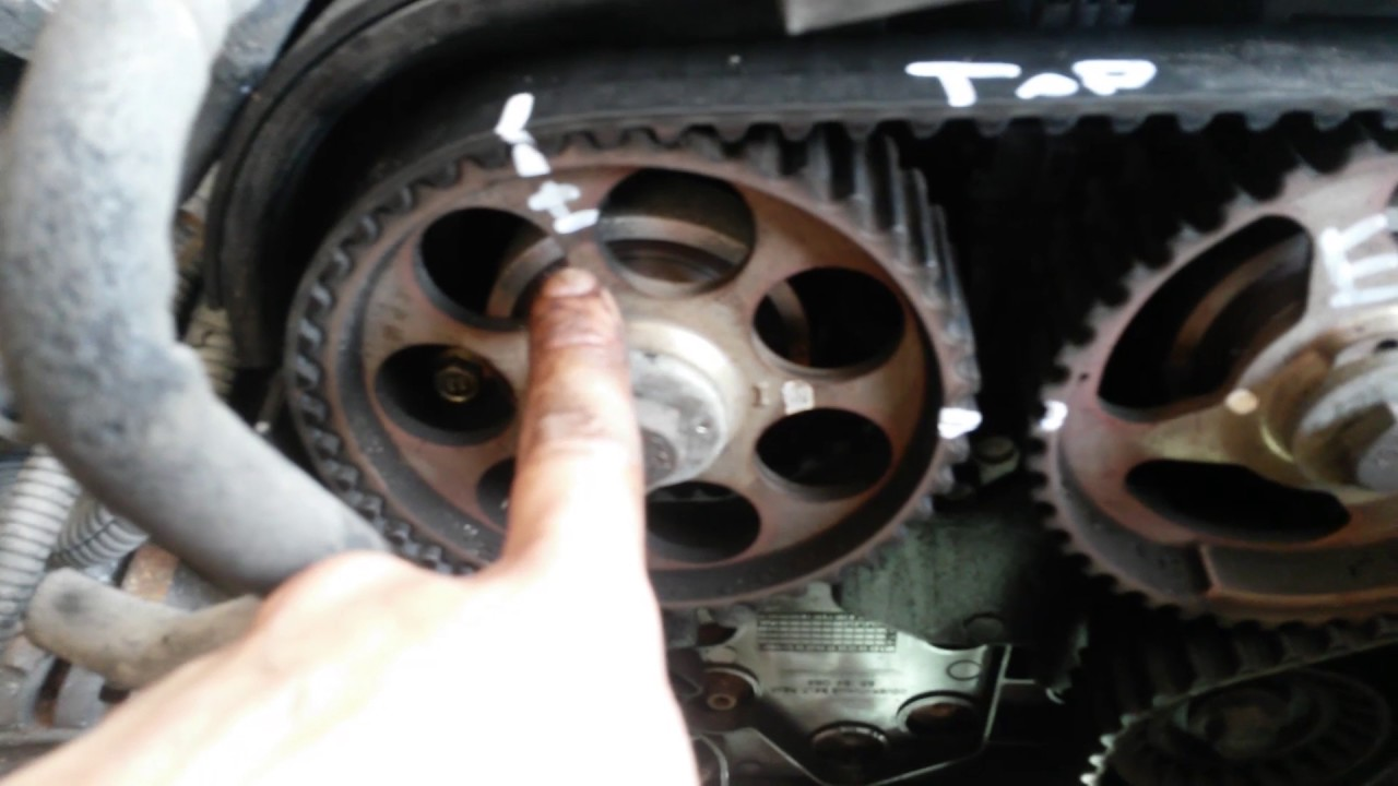 chevy aveo pontiac wave how to water pump timing belt [ 1280 x 720 Pixel ]