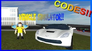 CODES OF VEHICLE SIMULATOR | ROBLOX