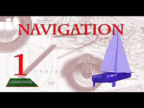Carte marine 1 : Navigation avec La règle CRAS, le compas et la carte.