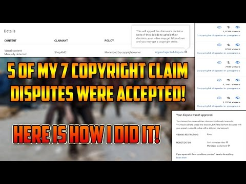 5 Of 7 Copyright Claim Disputes Accepted! HERE IS HOW I DID IT!