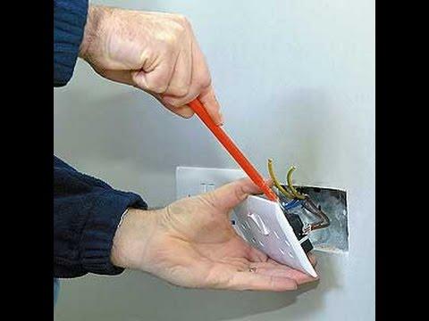 Como hacer instalaciones electrica empotrada electricidad - Interruptores y enchufes ...