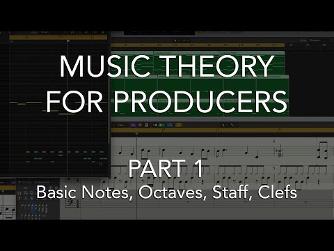 Music Theory for Producers #01  Basic Notes, Octaves, Staff, Clefs