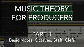 Music Theory for Producers #01 - Basic Notes, Octaves, Staff, Clefs