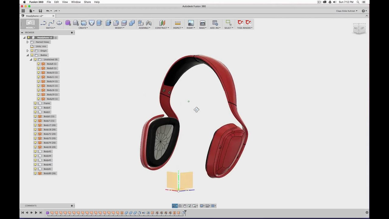 Fusion 360 and Thea Render: Headphones - YouTube