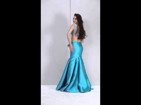 two-piece-trumpet/mermaid-floor-length-satin-prom-dress