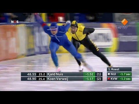 Kjeld Nuis 1500m - 1:43.48. Olympisch kwalificatietoernooi 2018