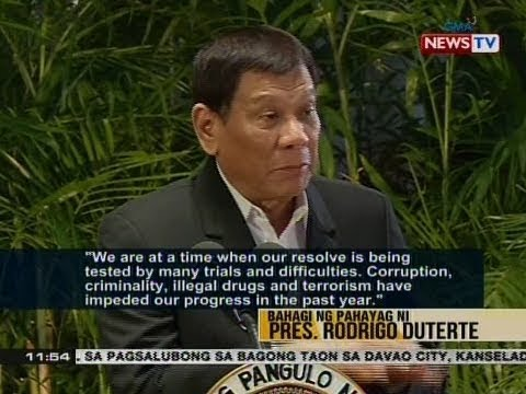 BT: Bahagi ng pahayan ni Pres. Rodrigo Duterte