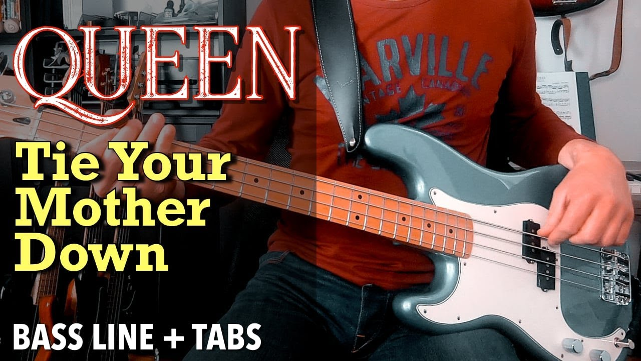 Queen - Tie Your Mother Down /// BASS LINE [Play Along Tabs]