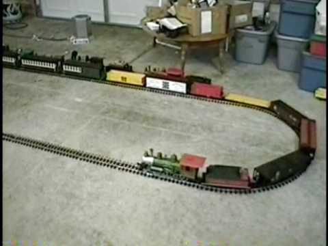 G Scale Bachmann 4-6-0 Big Hauler with 54 axle train in Michigan, USA